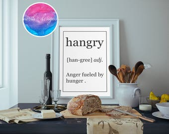 Hangry Home Décor Print by North C Designs
