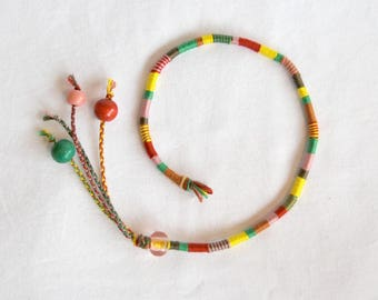 Atébas removable multicolored beads braided Indian hair hair wrap hippie faux dread Brasilda Sunday