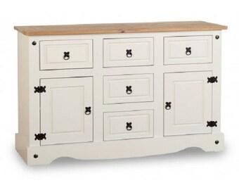 Corona painted large 2 door 5 drawer sideboard