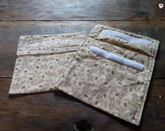 Set of 2 snack holders, taste, cotton fabric flowers, for a lifetime zero waste