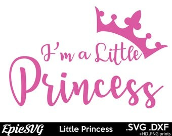 Little Princess | .SVG .DXF | Silhouette Digital File Cute Girl Cameo Cricut Pink