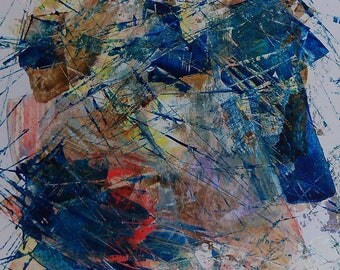Abstract painting, abstraction, lyrical, original and informal. 170650