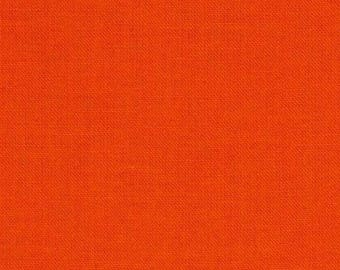 Carrot orange cotton quilt fabric