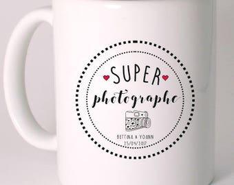 """SUPER photographer"" custom ceramic MUG"
