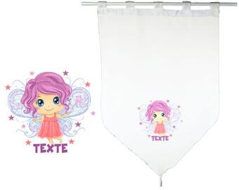 PAIR OF CURTAINS/SHEER 60 X 90 CM SMALL FAIRY PERSONALIZED