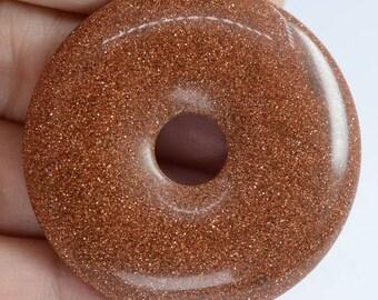 Sun stone 40 X 40, semi precious #63211 1 donut