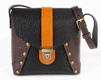 Woman's Leather Handbag Cross Body Bag Purse Individually Handcrafted In The USA