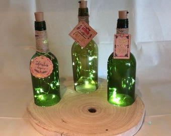 "Wine bottle Lamp ""Quotes"""