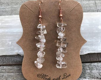Clear Quartz Dangle Earrings