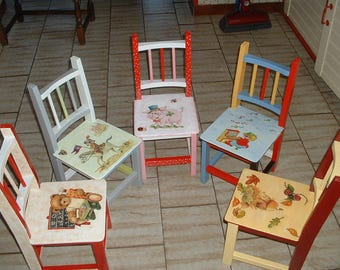SMALL handcrafted child - deco Chair