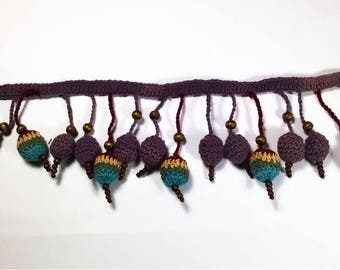 Bells crochet colors with a clasp on each side