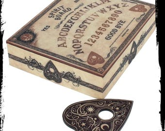 Ouija jewellery box - spirit board jewellery box Ouija occult sceance gothic medium astral travel lucifer