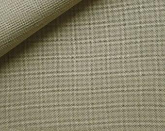 Coupon 68 x 58 canvas Zweigart Cashel linen beige 11 embroidery threads