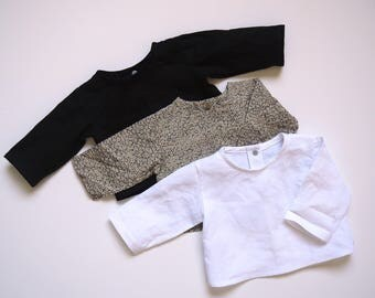Set of 3 coats of linen and cotton baby newborn to 3 months