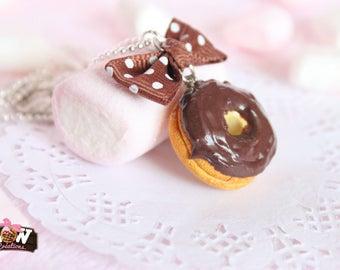 Necklace - Doughnuts with chocolate hazelnut