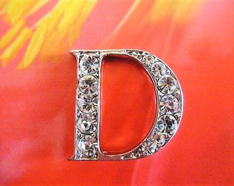 "Pearl shape letter ""D"" rhinestones for decoration, scrapbooking and crafting"