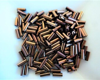 tube seed beads 5 mm bronze value 1 tube for designs and embellishments