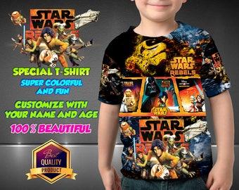 Star Wars Birthday Shirt Star Wars Custom Shirt, Star Wars Personalized Shirt,  Star Wars family shirts, Star Wars Birthday t-shirts