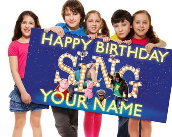 Sing Personalized/Customized Birthday Banner
