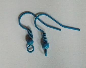Pair of findings blue earrings