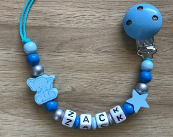 Personalized pacifier - elephant
