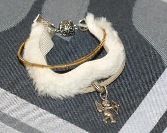 fur angel bracelet love beads