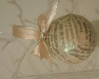 Bohemian set of 6 balls for my love of writing, great Valentine decoration