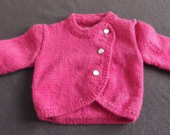 fuchsia 0/3 month baby wool vest