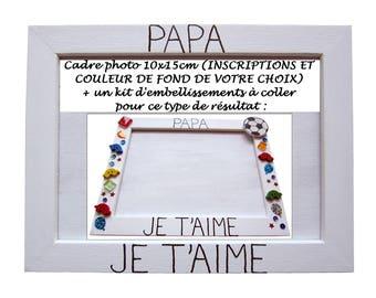 """Loisirs créatifs enfant - Activité collage - Idée cadeau personnalisé - Papa je t'aime / Maman je t'aime / Mamie je t'aime / Papy je t'aime"""""""