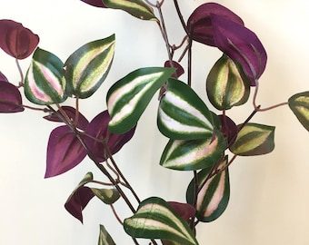 Artificial Tradescantia Foliage Stems, Perfect For Combining With Artificial Flowers To Create Floral Arrangements Choose From 3, 5, 10Stems