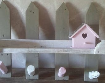 4 girl coat rack hooks with shelf