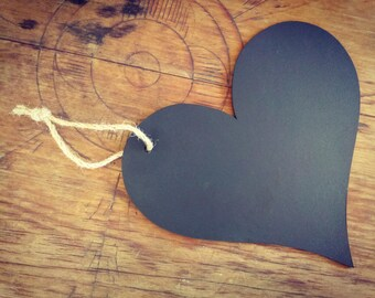 Large Chalkboard Heart Sign With Hang Loop - Wedding/Engagement/Pregnancy Photography Prop
