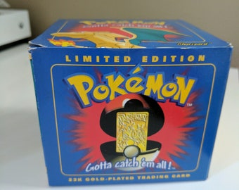 Limited Edition 23k Gold-Plated Pokemon Trading Card- Charizard