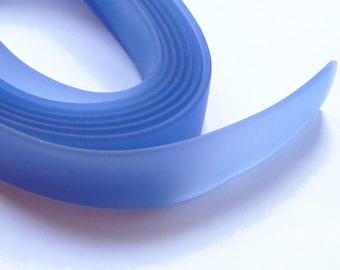 50cm cord PVC flat 15mm blue