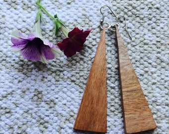 Long Oak Earrings