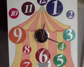Canvas circus for learning time clock