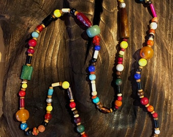 Chic hippie beaded necklace