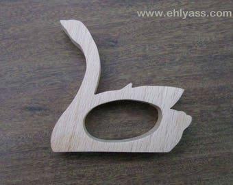 Napkin Swan wooden fretwork (end)