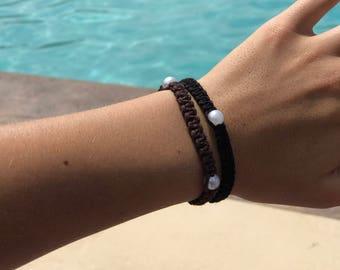 Hemp Pearl Bracelets