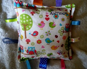 Blanket, throw pillow with tags