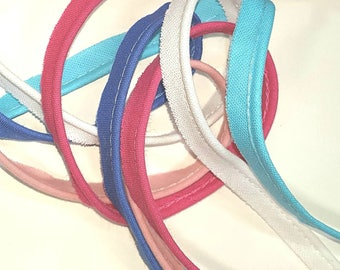 Piping - assorted colors - 10mm wide 5 m