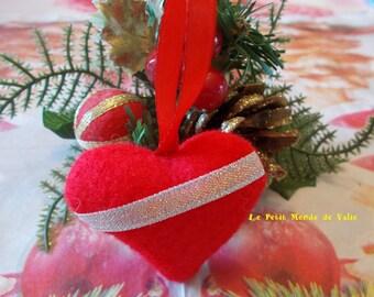Glittery Red Ribbon heart