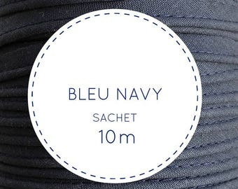 10 m piping - 21 navy blue bag