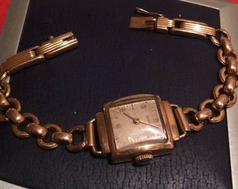 SALE! Beautiful old watches on gold bracelet 583pr (old, with head) 50-ss USSR