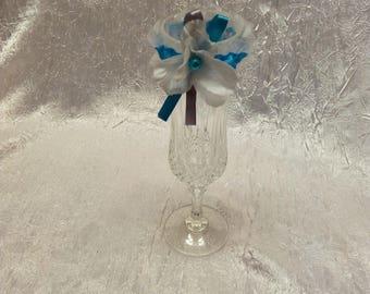 Mini garter Deco table wedding custom turquoise color
