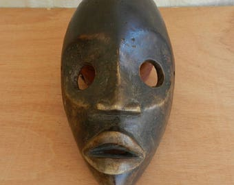 Beautiful old antique wood carving African mask