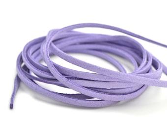 Mauve purple suede cord