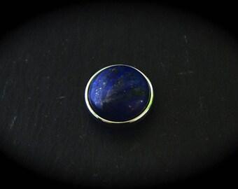 Cabochon stone reconstituee Lapis Lazuli jewelry 18mm snap