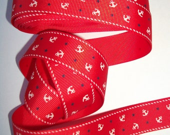 """Grosgrain Ribbon anchors marine red tone to your pacifier, 2 m = 2yards18 - 2cm 5-= 1 """"wide"""""""