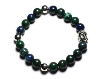 Semi precious - Chrysocolla stone and Buddha bracelet